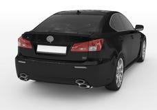 Samochód odizolowywający na bielu prawica s - czarna farba, zabarwiający szkło - Obrazy Stock