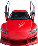 samochód odizolowywający czerwony sporta biel fotografia royalty free
