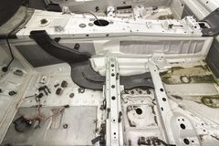 Samochód odpowiada dla naprawy Fotografia Stock