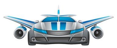 samochód oskrzydlony royalty ilustracja