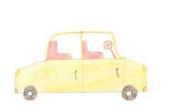 Samochód osobowy na białym tle Kolorów dzieci rysować Obraz Royalty Free
