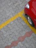 samochód parkująca czerwień Zdjęcie Royalty Free