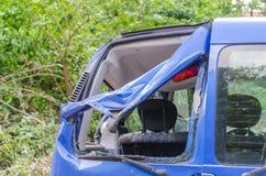 Samochód po burzy szkody Zdjęcie Royalty Free