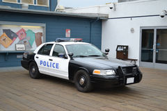 samochód policja Obrazy Royalty Free