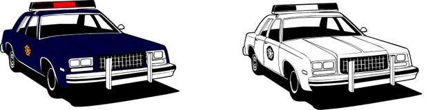 samochód policji royalty ilustracja