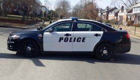 Samochód Policyjny barykada fotografia royalty free