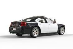 Samochód policyjny - daleko tylny widok Zdjęcia Stock