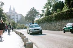 Samochód policyjny na ulicach Obraz Royalty Free