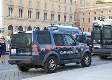 Samochód Policyjny w włoskim kapitale Rzym Zdjęcia Stock