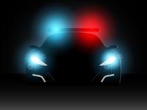 Samochód policyjny. Wektorowa ilustracja. Zdjęcia Stock