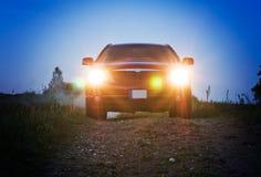 Samochód przy noc Zdjęcia Stock