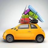 samochód przygotowywająca podróż ilustracji
