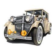 samochód retro royalty ilustracja