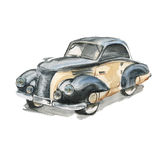 samochód retro akwarela ilustracji