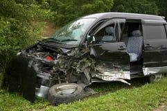 samochód rozbijał Zdjęcie Stock