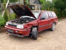 samochód rozbijający Obraz Royalty Free
