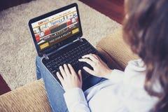 Samochód rozdziela handel elektroniczny stronę internetową Obraz Stock