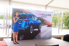 Samochód sprzedaży promoci konferencja obraz royalty free