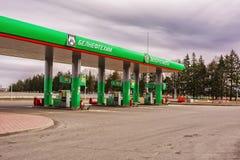 Samochód stacja paliwowa Belneftekhim Belarusneft Obraz Royalty Free