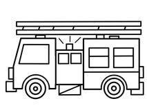 Samochód Strażacki żartuje edukacyjne kolorystyk strony Obrazy Stock