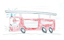 samochód strażacki royalty ilustracja
