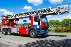 Samochód strażacki na pośpiechu Obrazy Stock