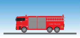 Samochód Strażacki na niebieskiego nieba tle Royalty Ilustracja