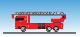 Samochód Strażacki na niebieskiego nieba tle Ilustracji