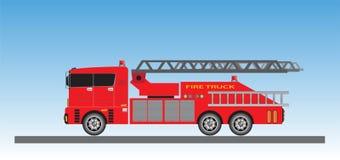 Samochód Strażacki na niebieskiego nieba tle Ilustracja Wektor