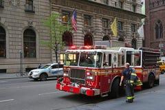Samochód strażacki w Nowy Jork Zdjęcie Stock
