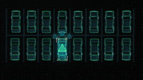 Samochód technologia Auto parking, IOT technologia royalty ilustracja