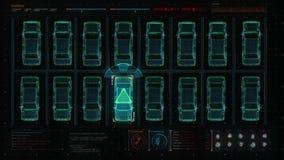 Samochód technologia Auto parking, IOT technologia w cyfrowego pokazu panelu Interfejs użytkownika ilustracji