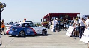 Samochód temat, auto racja po tym jak przyjazd na Resinge ` s Wlec Zdjęcie Royalty Free