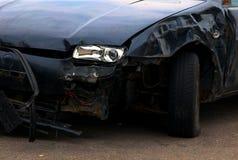 samochód uderzył Zdjęcie Stock