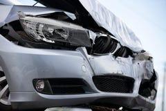 samochód uderzył Obrazy Stock