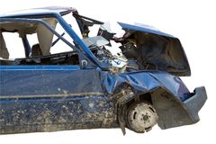 samochód uderzył wypadek Obrazy Royalty Free