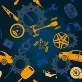 Samochód usługa, remontowy Infographics ilustracja wektor