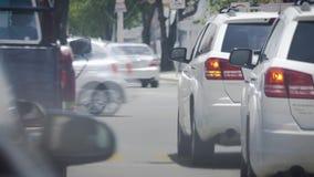 Samochód w miasto ruchu drogowym zbiory