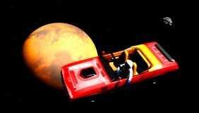 Samochód w przestrzeni Fotografia Stock