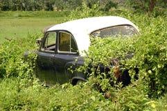 Samochód w ruinach Fotografia Stock
