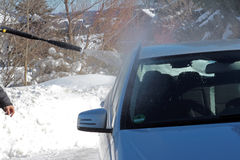 Samochód w zimie Fotografia Royalty Free
