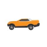 Samochód, wektor, 4x4, pojęcie, ciężarówka, kolor żółty, czysty, oka łapanie, eps, format Ilustracja Wektor