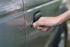 samochód wkładający klucz Zdjęcia Stock