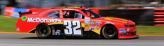 Samochód wyścigowy akcja Zdjęcia Stock