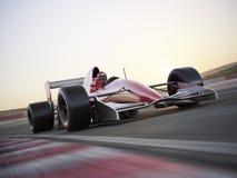 Samochód wyścigowy przy wysokim wskaźnikiem prędkość Fotografia Royalty Free