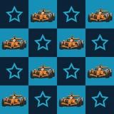 Samochód wyścigowy i gwiazda wzór Fotografia Royalty Free