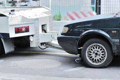 samochód wywalam target5357_0_ Zdjęcie Royalty Free