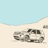 samochód z drogi Obraz Stock