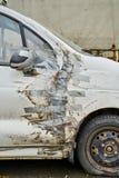 Samochód z kanał taśmy naprawą fotografia royalty free
