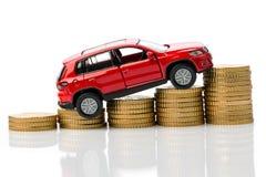 Samochód z monetami zdjęcie royalty free